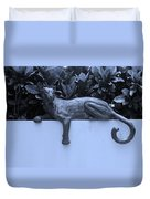 Blue Cat Duvet Cover by Rob Hans