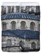 Blue Dawn Blue Mosque Duvet Cover by Joan Carroll