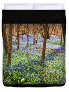 Blue Flowers In Spring Forest Duvet Cover by Elena Elisseeva