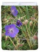 Blue Flowers Duvet Cover by John Williams