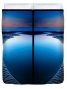Blue Hour Diptych Duvet Cover by Adrian Evans
