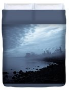 Blue Hour Mist Duvet Cover by Mary Amerman
