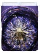 Blue Jelly Fish Orb Duvet Cover by Terri  Waters