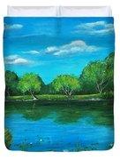 Blue Lake Duvet Cover by Anastasiya Malakhova
