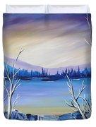 Blue Lake Duvet Cover by Beverly Livingstone