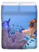 Blue Mermaid Duvet Cover by Paula Porterfield-Izzo