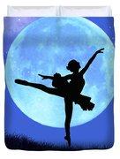 Blue Moon Ballerina Duvet Cover by Alixandra Mullins
