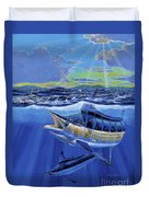 Blue Pitcher Off00115 Duvet Cover by Carey Chen