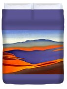 Blue Ridge Mountains East Fall Art Abstract Duvet Cover by Catherine Twomey