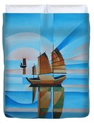 Blue Skies And Cerulean Seas Duvet Cover by Tracey Harrington-Simpson