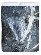 Blue Snow Duvet Cover by Kathleen Struckle