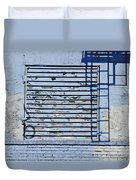 Blue Wall Duvet Cover by Sarah Loft