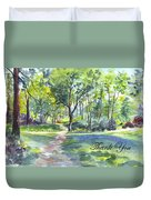 Bluebell Woods  Thank You Duvet Cover by Carol Wisniewski