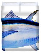 Bluefin tuna Duvet Cover by Carey Chen