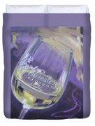 Bluestone Vineyard Wineglass Duvet Cover by Donna Tuten