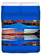 Boat For Freedom  Duvet Cover by Debra Forand