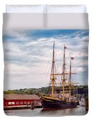 Boat - Sailors Delight Duvet Cover by Mike Savad