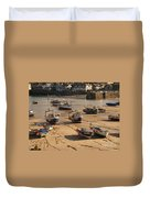 Boats On Beach 03 Duvet Cover by Pixel Chimp