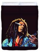Bob Marley Duvet Cover by Paul Meijering