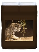 Bobcat Duvet Cover by James Peterson