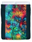 Bold Rich Colorful Landscape Painting Original Art Colored Inspiration By Madart Duvet Cover by Megan Duncanson
