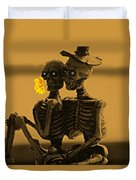 Bones In Love  Duvet Cover by David Dehner