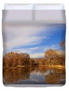 Bosque Del Apache Reflections Duvet Cover by Mike  Dawson