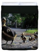 Boston Bruins Ducklings Duvet Cover by Juergen Roth