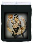 Boston Celtics Duvet Cover by Stephen Stookey