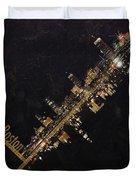 Boston City Skyline Duvet Cover by Corporate Art Task Force
