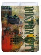 Boston Collage Duvet Cover by Corporate Art Task Force