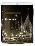 Boston Garder And Side Street Duvet Cover by John McGraw