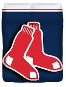 Boston Red Socks Duvet Cover by Tony Rubino