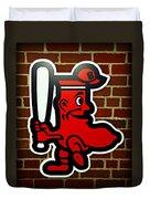 Boston Red Sox 1950s Logo Duvet Cover by Stephen Stookey