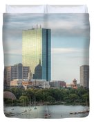 Boston Skyline I Duvet Cover by Clarence Holmes