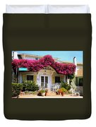 Bougainvillea House Duvet Cover by Cheryl Young