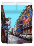 Bourbon Street Duvet Cover by Carey Chen