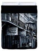 Bourbon Street New Orleans Duvet Cover by Christine Till