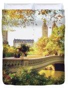 Bow Bridge - Autumn - Central Park Duvet Cover by Vivienne Gucwa