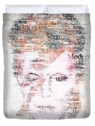 Bowie Typo Duvet Cover by Taylan Soyturk