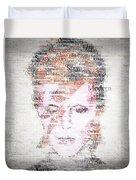 Bowie Typo Duvet Cover by Taylan Apukovska