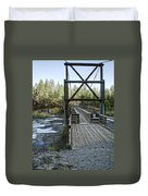 Bowl And Pitcher Bridge - Spokane Washington Duvet Cover by Daniel Hagerman