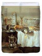 Breakfast Still Life Duvet Cover by Willem Claesz Heda
