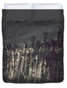 Breakwater In Jersey Duvet Cover by Victor Hugo