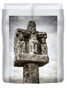 Breton Stone Cross Duvet Cover by Elena Elisseeva
