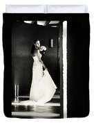 Bride I. Black And White Duvet Cover by Jenny Rainbow