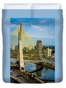 Bridge In Sao Paulo Duvet Cover by Daniel Precht