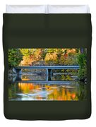Bridges Of Madison County Duvet Cover by Frozen in Time Fine Art Photography