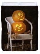 Brightly Lit Jack O Lanterns Duvet Cover by Amanda And Christopher Elwell