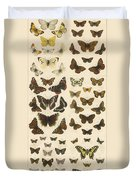 British Butterflies Duvet Cover by English School